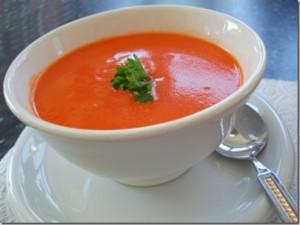 Доматена крем супа с кашу